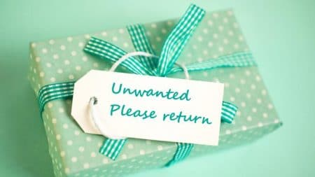 unwanted gifts and favours