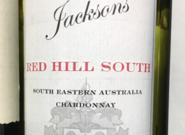 wine jacksons red hill south label